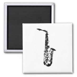Drawn Look Saxophone Magnet