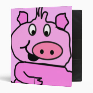 Drawn Pig face Binder