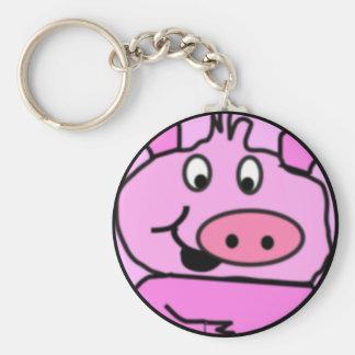 Drawn Pig face Key Chain