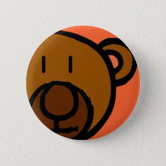 Drawn Teddy Bear Face 2 Inch Round Button
