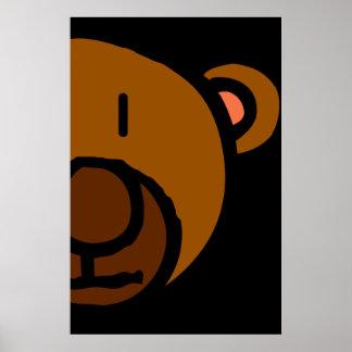 Drawn Teddy Bear Face Poster
