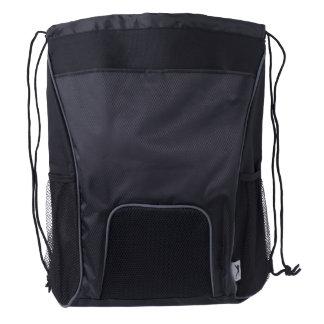 Drawstring Backpack, Black
