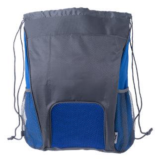 Drawstring Backpack, Blue/Grey