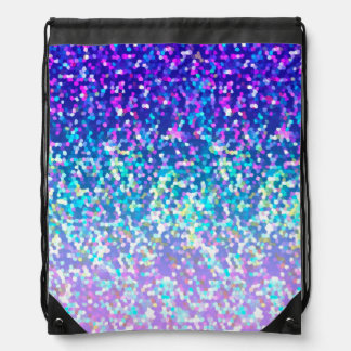 Drawstring Backpack Glitter Graphic
