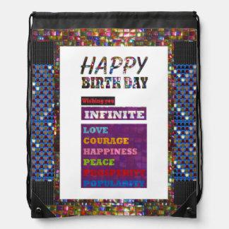 Drawstring Backpack  Happy Birthday HappyBirthday