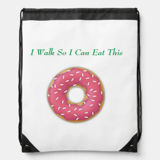Drawstring Backpack--Sprinkles Donut Drawstring Bag