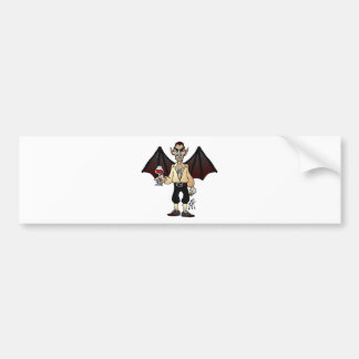 Dreaded Dracula Bumper Sticker