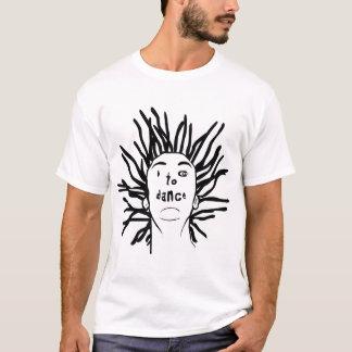 Dreadlocks ICameToDance.com Face white tee