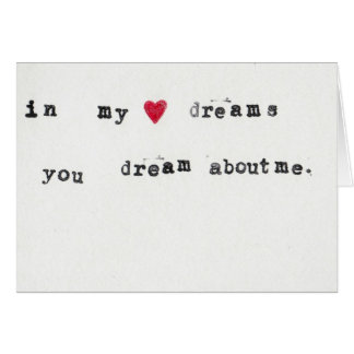 Dream about me card