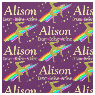 DREAM, ACHIEVE, BELIEVE CUSTOM GYMNASTICS FABRIC