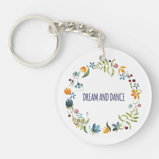 Dream and dance keychain