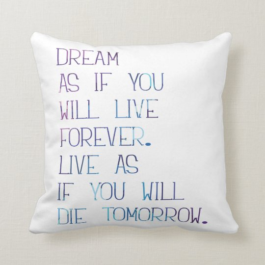 Dream as Polyester Throw Pillow