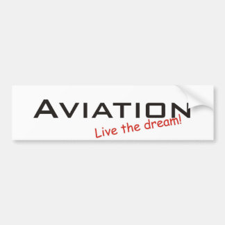 Dream / Aviation Bumper Sticker
