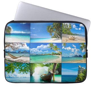 Dream beaches laptop sleeve