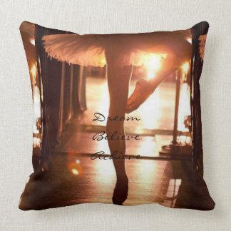 Dream, Believe, Achieve Ballet Throw Pillow