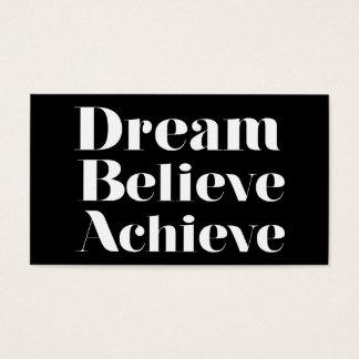 Dream Believe Achieve Business Card
