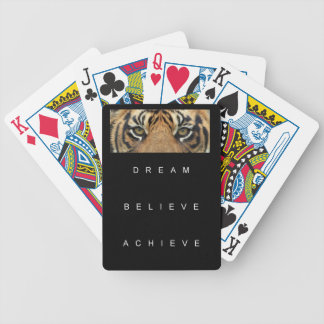 dream believe achieve motivational quote bicycle playing cards