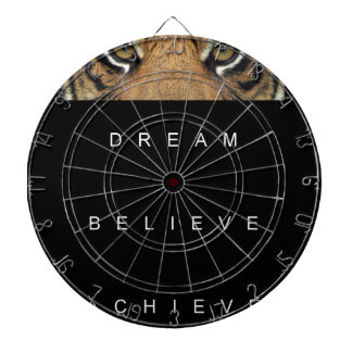 dream believe achieve motivational quote dartboard