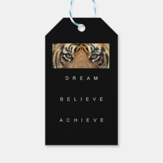 dream believe achieve motivational quote gift tags