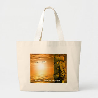 dream believe achieve motivational quote large tote bag