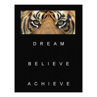 dream believe achieve motivational quote letterhead