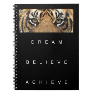 dream believe achieve motivational quote notebooks