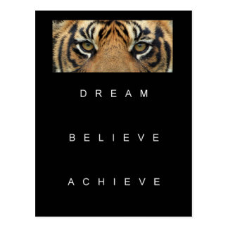 dream believe achieve motivational quote postcard