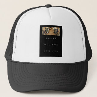 dream believe achieve motivational quote trucker hat