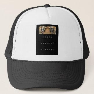 dream believe achieve motivational quote trucker hat