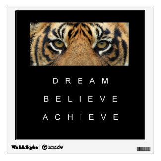 dream believe achieve motivational quote wall decal