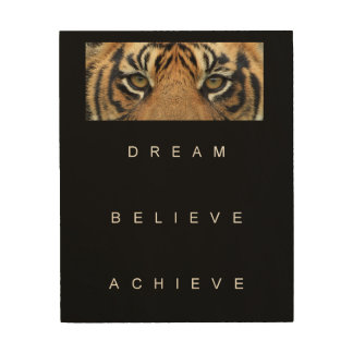 dream believe achieve motivational quote wood wall art