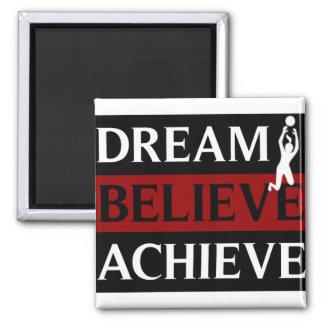 Dream Believe Achieve Womens Volleyball Magnet