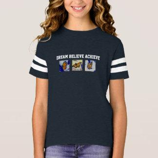 Dream Believe Butterfly Art Girl's Football Shirt