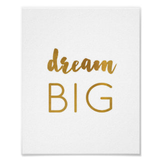 Dream Big - Art Print - gold