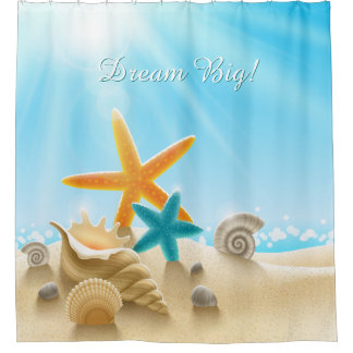 Dream Big - Beach scene with starfish & seashells