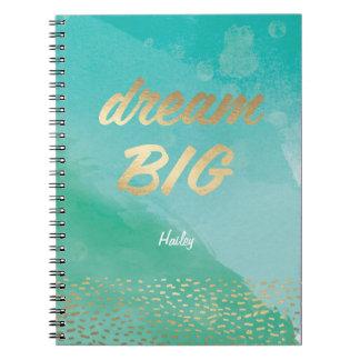 Dream BIG Blue Watercolor   Journal