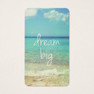 Dream big business card