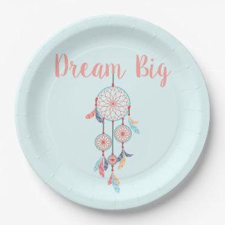 Dream Big Dreamcatcher Bohemian Dream Catcher 9 Inch Paper Plate