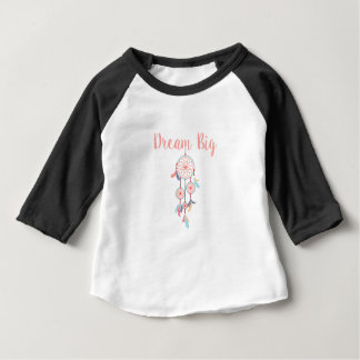 Dream Big Dreamcatcher Dream Catcher in Peach Baby T-Shirt