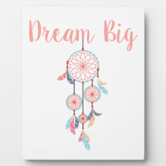 Dream Big Dreamcatcher Dream Catcher in Peach Plaque