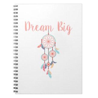 Dream-Big-Dreamcatcher-peach Notebooks