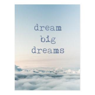 Dream Big Dreams Sky Cloud Photo Postcard