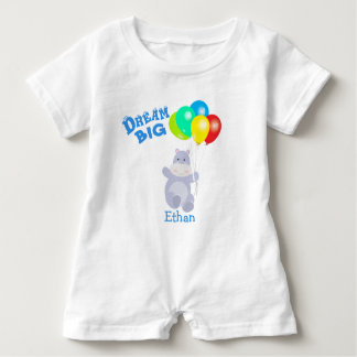 Dream Big Hippo Balloons Adventure Baby Romper