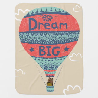 Dream big hot air balloon Indian style decorations Baby Blanket