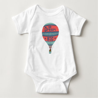 Dream big hot air balloon Indian style decorations Baby Bodysuit
