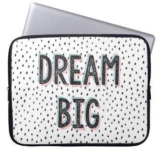 Dream Big Inspirational Quote Laptop Sleeve