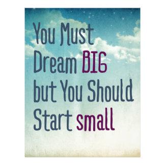 Dream Big Letterhead
