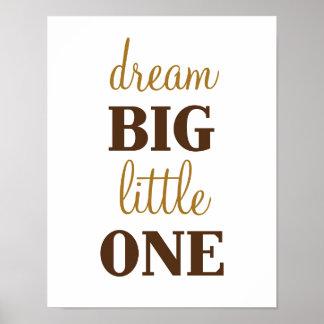 Dream Big Little One B is for Bear Art Poster