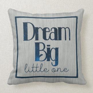 Dream Big Little One Gray Stars Pillow