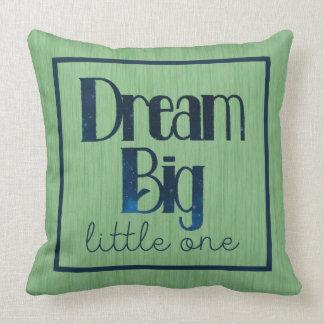 Dream Big Little One Green Stars Pillow